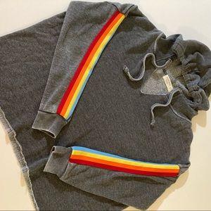 Ocean drive sweatshirt size small gray stripes